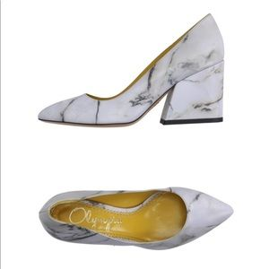Charlotte Olympia Vendome Marble Pointy Chunk Pump